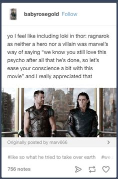 THEY PUT LOKI IN BECAUSE EVERYBODY LOVES LOKI SOOOO XDXDXD