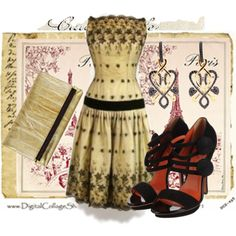 """Vintage Dress"" by fashionmonkey1 on Polyvore"