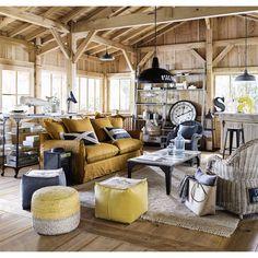 Gevlochten katoenen en jute LODGE tapijt 160 x 230 cm | Maisons du Monde