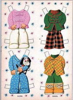 Bonecas de Papel: cabeçudas coleção DUAS AMIGAS