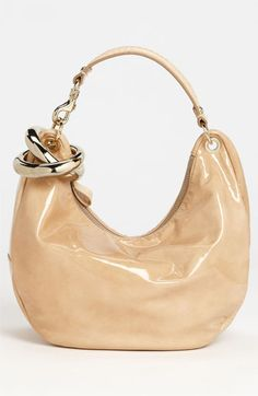 Sleek. Too bad I don't have $1,300 to spend on a purse....Jimmy Choo 'Solar -Small' Patent Leather Hobo