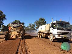 Road stabilising with binder PolyCom Stabilising Aid