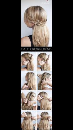 Pulled back braid