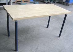 This is a simple pipe table that can be used with any wooden table top.  This project contains step by step instructions on how to build a very simple pipe table.