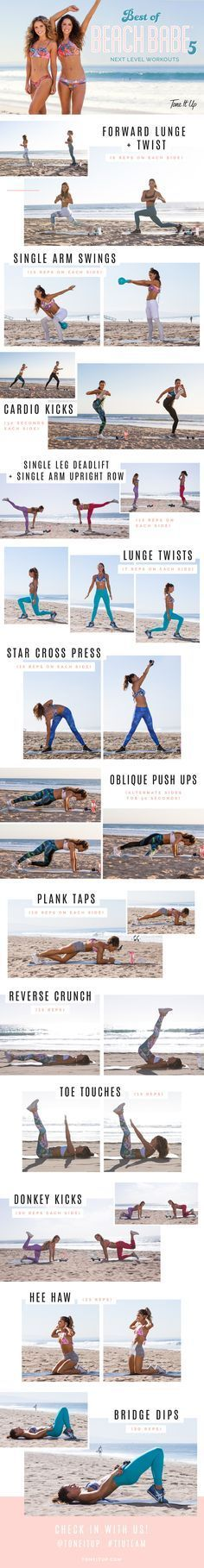 Tone It Up Free Toning Workout! Best of Beach Babe 5