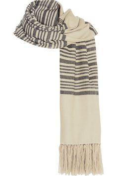 Isabel Marant | Edith striped cashmere and wool-blend scarf | NET-A-PORTER.COM