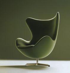 Egg Chair in green   armchair . Sessel . fauteuil   Design: Arne Jacobsen  