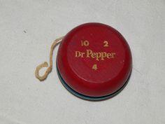 Vintage Dr Pepper 10 2 4 Wooden Yo Yo Duncan YoYo Advertising Yo Yo | eBay