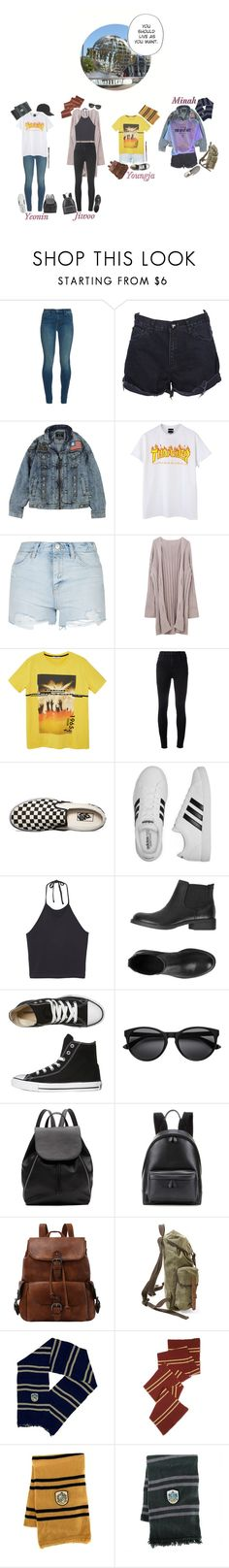 """Universal Studios: 4U"" by real4u ❤ liked on Polyvore featuring J Brand, OneTeaspoon, Topshop, MANGO, Vans, adidas, Monki, Universal, ESPRIT and Converse"