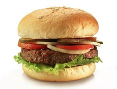 It's hard to resist a juicy burger, especially during May, National Hamburger Month. Living in a fast food, super-size-me world, the burger has gotten a bad rap. Here are some tips to help you enjoy a lean burger! Healthy Fast Food Options, Fast Healthy Meals, Healthy Cooking, Healthy Eating, Eating Fast, Healthy Food, Clean Eating, Yummy Food, Tofu