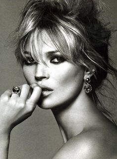 "90s - Kate Moss. English model. Brought the fashion world to its knees with the waif look and heroin chic. Moss was discovered in 1988 at the age of 14, then went on to become the ""anti-supermodel"" of the 90s, in stark contrast to supermodels such as Cindy Crawford, Claudia Schiffer and others who were known for their curvaceous and tall figures. In 2007, she came 2nd on the Forbes top-earning models list, estimated to have earned 9 million dollars in one year."