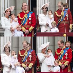Beautiful family at Trooping the Colour, June 2016