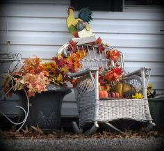 Welcoming Entries: Fall Outdoor Decorating Ideas: Still Life, October
