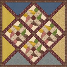 Block 2 - Beispiel für Quilt mit 4 Blöcken - Wo die Liebe hinfaellt