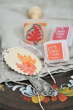 Herbstliche Tischdeko I autumn table deco I Herbst I autumn I stempel I stamp I Casa di Falcone