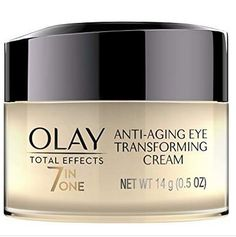 Olay Total Effects Anti-Aging Eye Cream Treatment - oz.: All-In-One Eye Cream Helps Brighten Eye Area… Anti Aging Eye Cream, Best Eye Cream, Anti Aging Tips, Best Anti Aging, Anti Aging Skin Care, Best Drugstore Eye Cream, Prevent Wrinkles, Neck Wrinkles, Cool Ideas