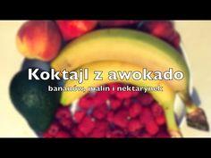 #banany #awokado #maliny #przepis #koktajl http://przepisynasoki.pl/koktajl-z-awokado/
