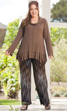 SARITA COWL TOP / MiB Plus Size Fashion for Women / Fall Fashion / BOHO Chic / Plus Size Top