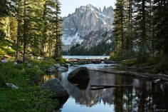 Evening at Baron Lake, Sawtooth Range, Idaho - by Jack Brauer