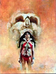 Enrich Vampirella Cover prelim Comic Art
