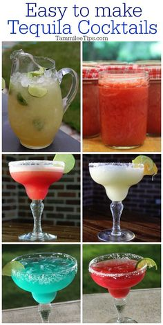 Celebrate Tequila with these delicious easy to make Tequila Cocktail Recipes! From margaritas to tequila sunrise cocktails there is a ton of different flavors to test out.   #tequila #cocktail #recipes #margarita #easyrecipe #drink #drinkrecipes #booze #cincodemayo #party