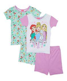 Another great find on #zulily! Disney Princess Short Four-Piece Pajama Set - Girls by Disney Princess #zulilyfinds