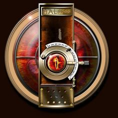 Steampunk Space Odyssey 2001 Hal Sauron Icon by yereverluvinuncleber