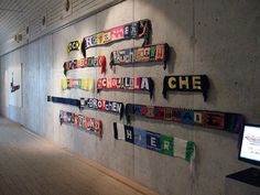 Ransom letter scarves | Flickr