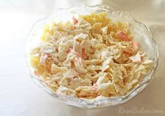 Crab Meat Pasta Salad Recipes is Among the Beloved Salad Recipes Of Several Persons Across the World. Besides Simple to Create and Good Taste, This Crab Meat Pasta Salad Recipes Also Healthy Indeed. Crab Pasta Salad, Easy Pasta Salad Recipe, Seafood Salad, Seafood Pasta, Seafood Recipes, Cooking Recipes, Tuna Salad, What's Cooking, Fish Recipes
