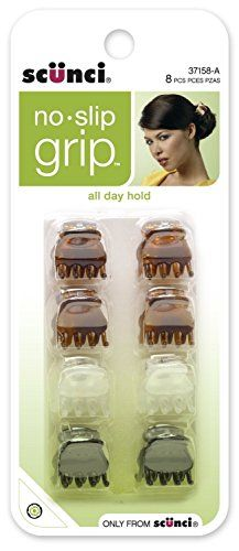 Scunci Noslip Grip Oval Top Jaw Clips 15cm  2 Packs of 8 Count  16 Count -- Read more reviews of the product by visiting the link on the image.
