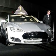 WINNER of 2013 World Green Car of Year: Tesla Model S. Incredible technology!  *For more info on extended-range electric trucks, vans & SUV's, please visit http://www.viamotors.com & http://www.facebook.com/viamotors  #electricvehicles #electriccars #tesla #carofyear #greencars