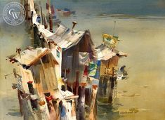 California Watercolor Art by Robert E. Wood, American Artist ...