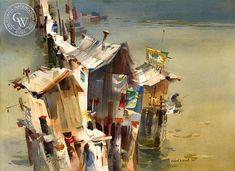 California Watercolor Art by Robert E. Wood, American Artist ...