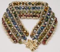 Electroplated Glass Bead Bracelet