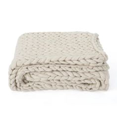Noble House Marnie Ivory Acrylic Throw Blanket 20103 - The Home Depot White Faux Fur Throw, Chunky Knit Throw, Chunky Blanket, Guest Room Office, Cozy Blankets, Modern Blankets, Contemporary Blankets, Knitted Throws, Tissue Box Covers