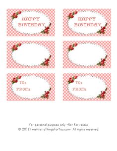 freebie vintage birthday tags by Free Pretty Things For You!, via Flickr
