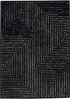 Toledo Black / White Rug from the Pangea Textured Rugs I collection at Modern Area Rugs