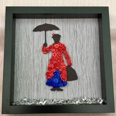 Disney Inspired Button Art Frame Mary Poppins by SpecialKreations1 on Etsy