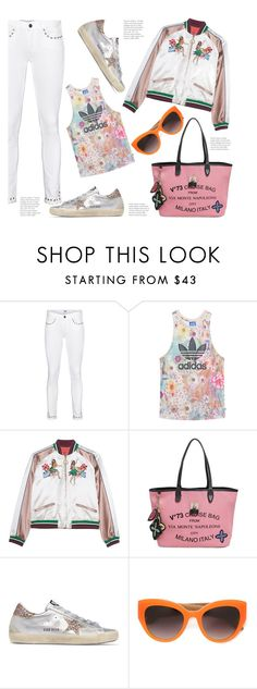 """""""Add a Little Sparkle to Sporty Style..."""" by hattie4palmerstone ❤ liked on Polyvore featuring Paige Denim, adidas Originals, V°73, Golden Goose and Dolce&Gabbana"""