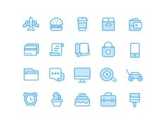 Blue Icons from Personal Assistant App by Thomas Budiman