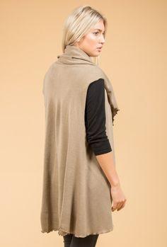 Mocha Knit Gilet | Shop Jayley Knit Cape