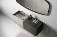 This concrete sink will add that WOW factor to any bathroom Design .Piet Boon by COCOON | byCOCOON.com   free standing bath tubs | bath faucet wall mount | luxury bathroom photos | interior decorating | luxury bathroom fixtures | water tap designs | high end shower heads | bathroom fittings pictures | luxury showers | high end bathroom sets | designer bathroom hardware | waterfalls shower | stainless steel shower | rain shower head | luxury bathroom products | high end bathroom Boutique Bathroom, Hotel Bathroom Design, Minimalist Bathroom Design, Hotel Room Design, Bathroom Interior, Bathroom Photos, Bathroom Goals, Bathroom Ideas, Black Bathroom Taps