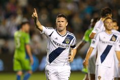 Robbie Keane recorded his first MLS hat trick in the Galaxy's 4-0 win over Seattle. Robbie Rogers also made his Galaxy debut