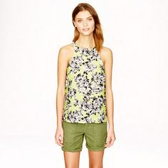 Racer tank in photo floral by J. Crew