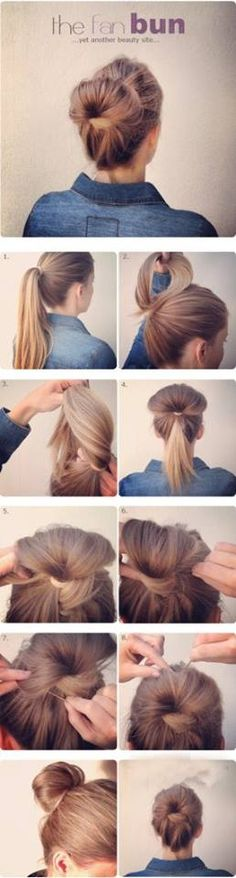peinados con rodetes