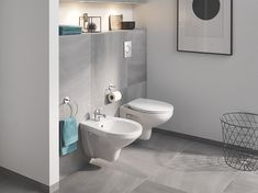 Grohe bidet solutions provides an elegant look while offering a hygienic way to cleanse oneself. Guest Bathrooms, Bathroom Renos, Bathroom Ideas, Contemporary Interior Design, Modern Interior, Modern Room, Modern Bathroom, Grey Baths, Toilet Sink