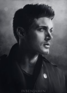 """ivbenjaminart: """" Commissioned Dean Winchester from Supernatural series for my dear friend """""""