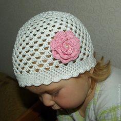 Шапочка летняя для девочки крючком мастер класс для начинающих Crochet Baby Hat Patterns, Crochet Baby Hats, Baby Patterns, Baby Cardigan, Summer Hats, Knitting Stitches, Beanie, Sewing, Crochet Cap