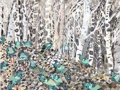 Michelle Morin - Winter Woods and Wild Turkeys