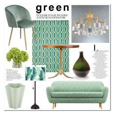 """""""Green # Homelava"""" by homelava ❤ liked on Polyvore featuring interior, interiors, interior design, home, home decor, interior decorating, Momeni, Giclee Glow and HAY"""